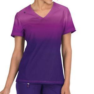 💜Koi Lite ombré scrub top, purple